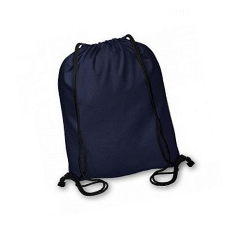Boys Navy Blue Cotton Drawstring P.E. Sports Football Kit Backpack Duffel Bag